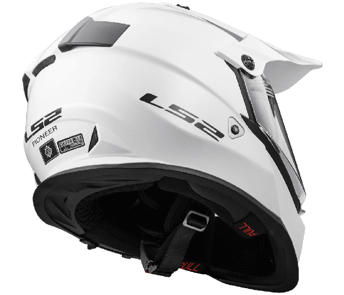 LS2 MX436 PIONEER GLOSS WHITE